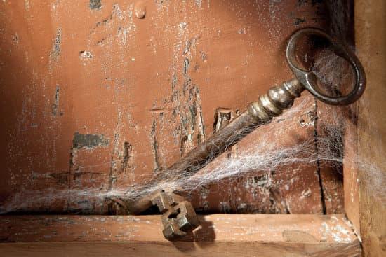 Old key and cobwebs